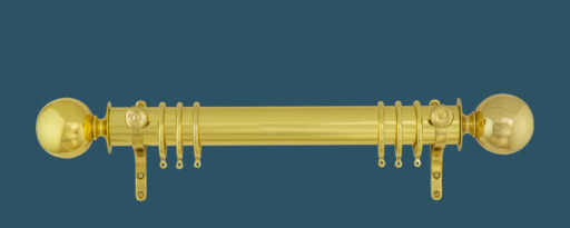Polished Brass Pole with Ball Finial