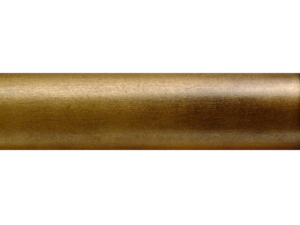 specialist wooden curtain pole finish aged gold leaf