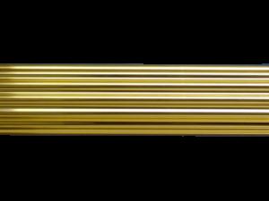 reeded brass curtain pole - curtain pole styles - Hunter & Hyland