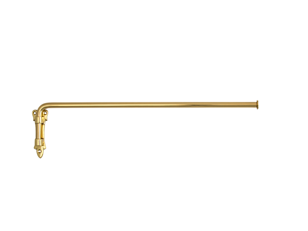 brass drapery arm without eyes