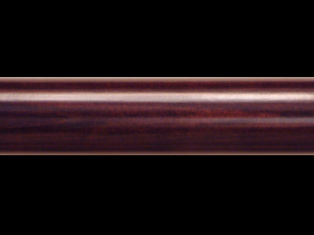 wooden curtain pole finish brown mahogany