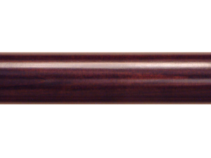 wooden curtain pole finish brown mahogany