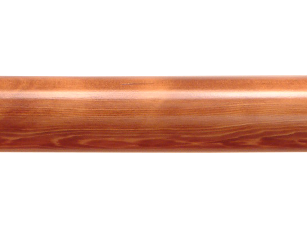 wooden curtain pole finish country oak
