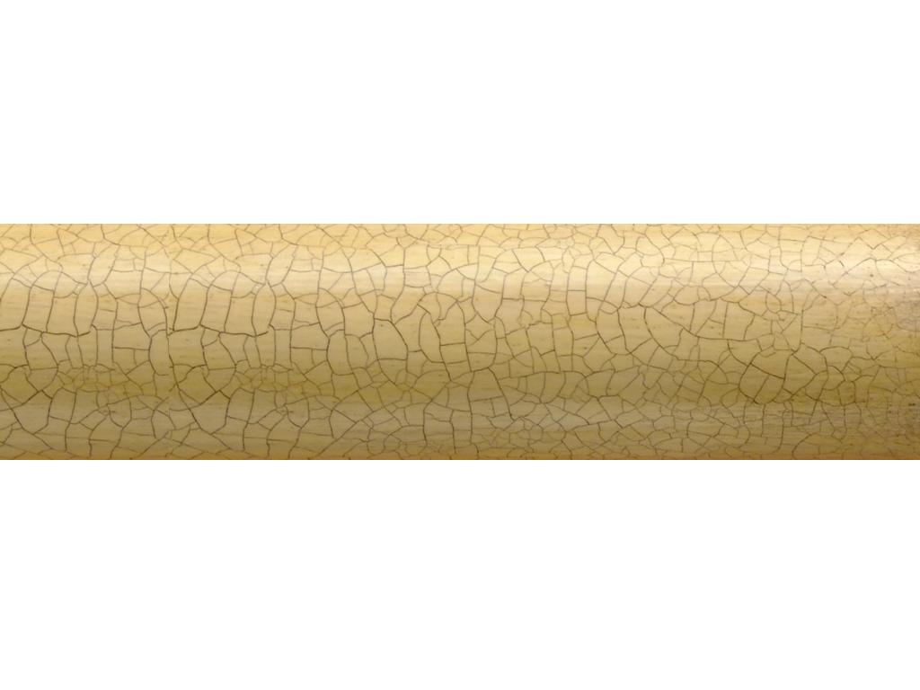 specialist wooden curtain pole finish craquelure glaze