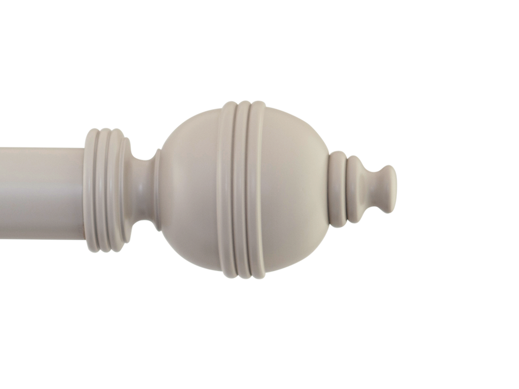 wooden curtain pole finial lantern