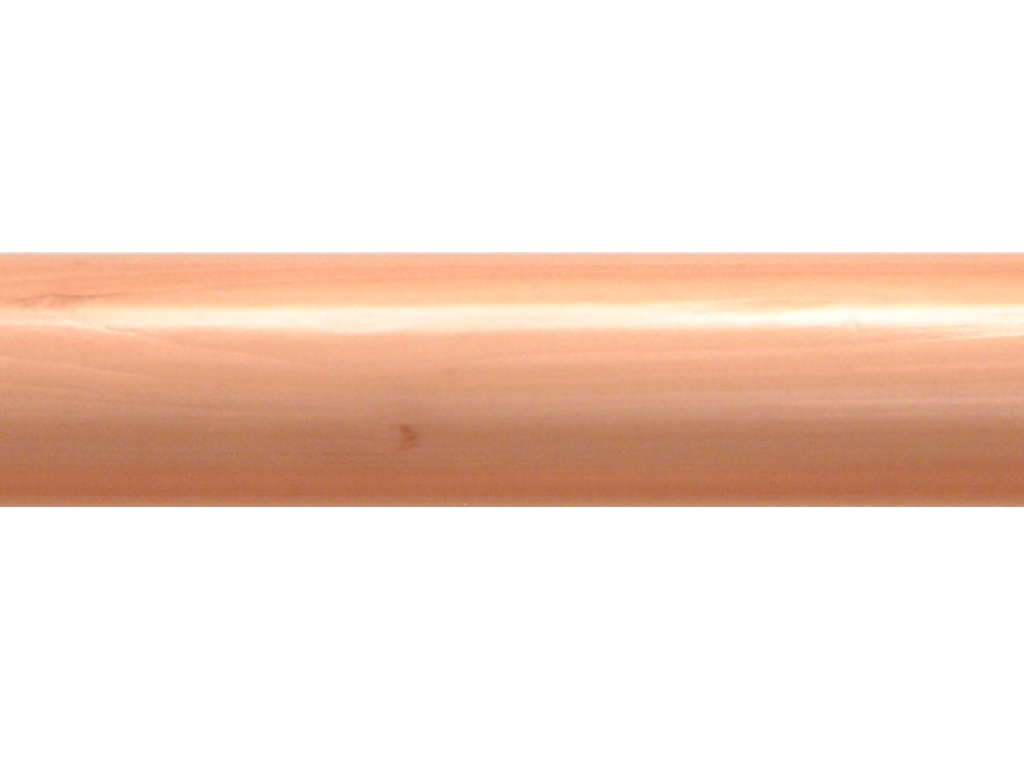 wooden curtain pole finish natural polished