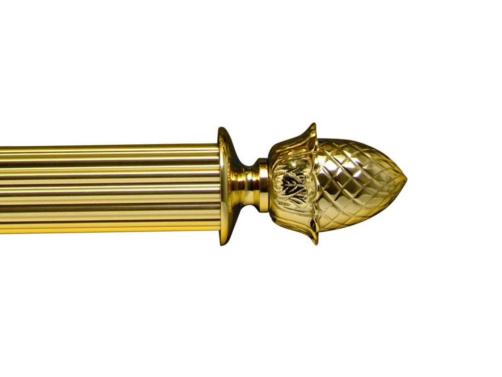 brass curtain pole finials - pinneapple