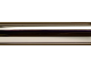polished nickel curtain pole, brass curtain pole finishes, Hunter & Hyland
