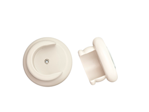 curtain pole round open recess socket