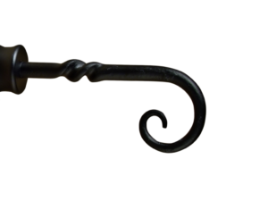 iron curtain pole finial staff