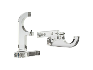 acrylic curtain pole centre brackets