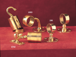 brass stair rope brackets and eye plate