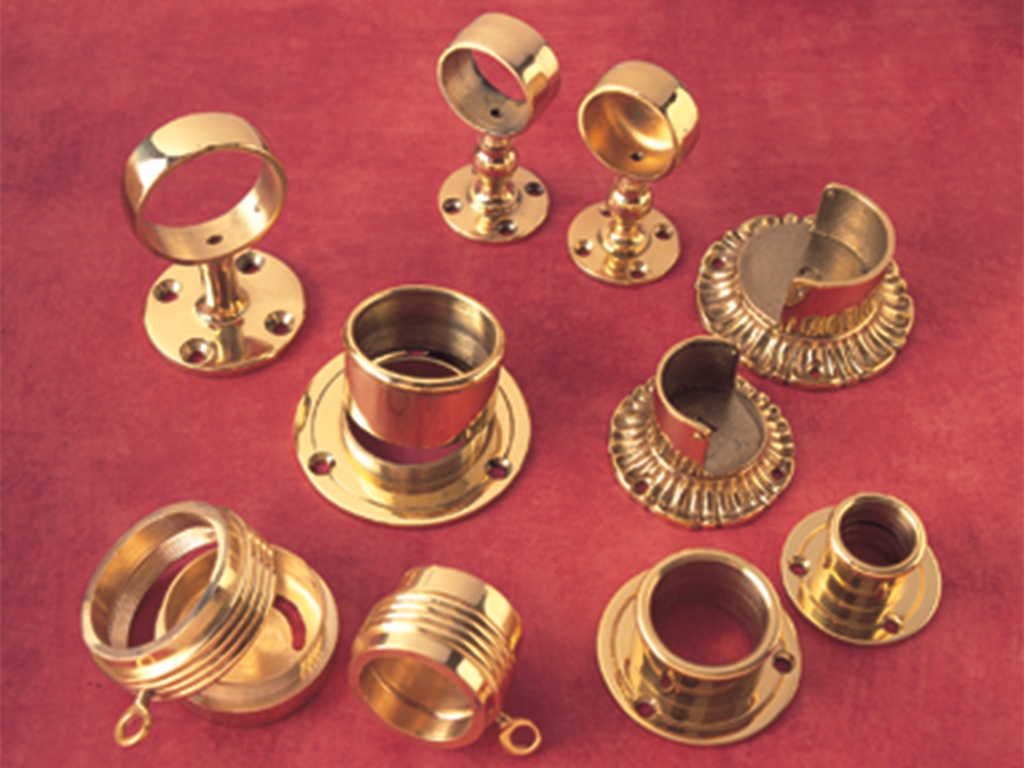 brass curtain pole brackets