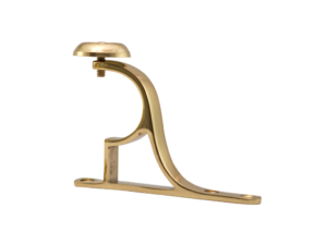 brass curtain pole end bracket