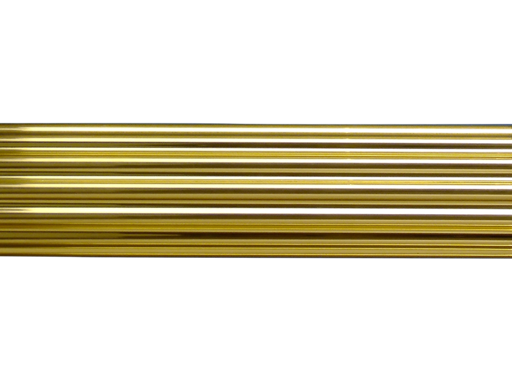 Reeded Brass Curtain Pole Style Hunter Amp Hyland