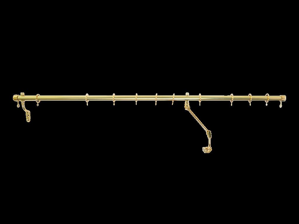 brass door rod