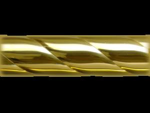 Rope Twist Brass Curtain Pole Style - Curtain Pole Styles - Hunter & Hyland