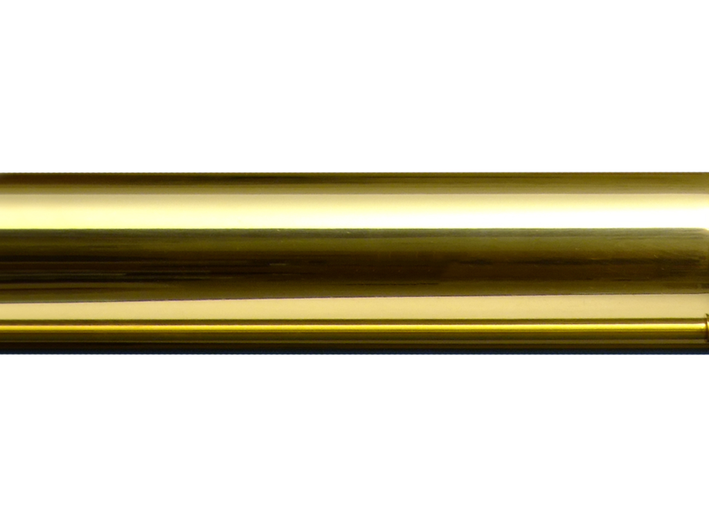 smooth brass curtain pole - brass curtain pole styles - Hunter & Hyland