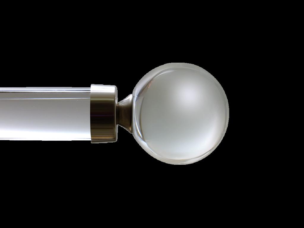 crystal curtain pole finial
