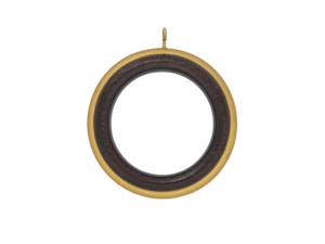 reeded beech curtain pole ring
