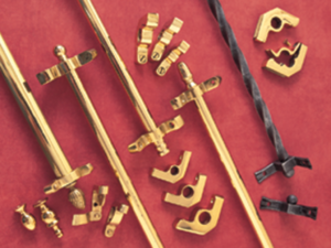 wrought iron and solid brass stair rods