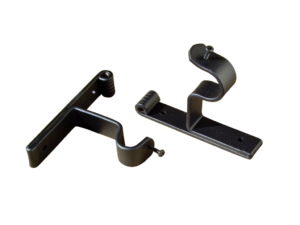 wrought iron curtain pole end support bracket