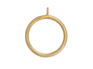 brass curtain pole rings
