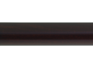 smooth wooden curtain pole finish