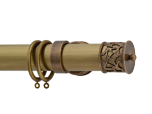 Brass curtain poles - burnished brass curtain pole - hunter & hyland