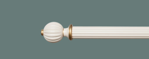 Curtain Poles Inspiration - Reeded Wooden Curtain Pole