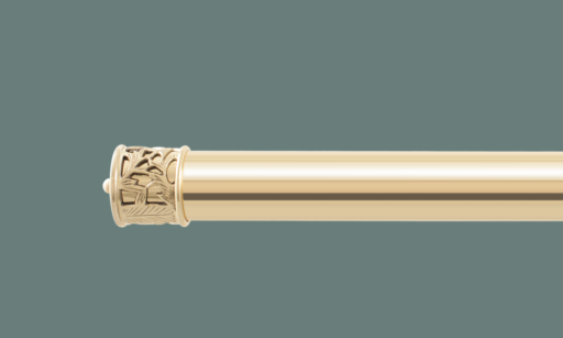 Brass curtain poles - Polished brass curtain pole