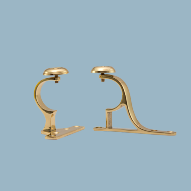 brass curtain pole brackets