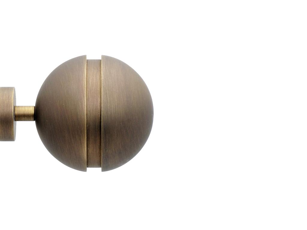 Nerola Curtain Poles Finials Slimline Modern Metals Range