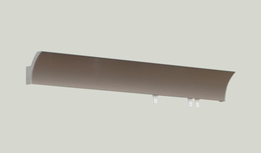 70mm C-rail pole in satin nickel with end caps